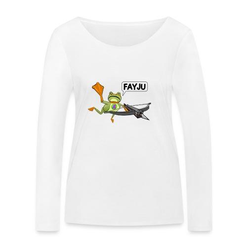 Amazing Frog Crossbow - Women's Organic Longsleeve Shirt by Stanley & Stella