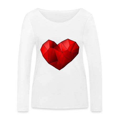 Heartart - Women's Organic Longsleeve Shirt by Stanley & Stella