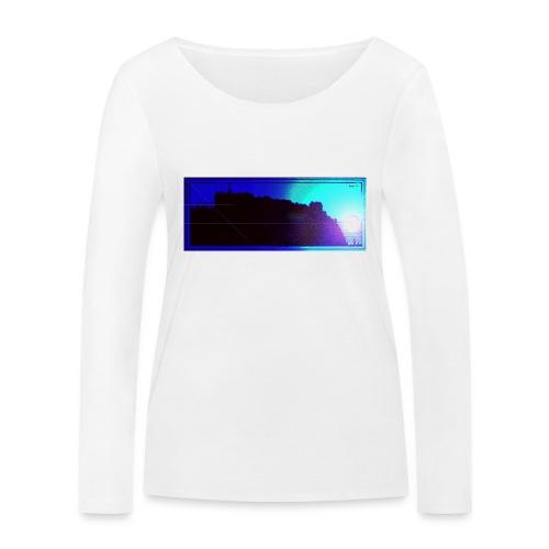 Silhouette of Edinburgh Castle - Women's Organic Longsleeve Shirt by Stanley & Stella