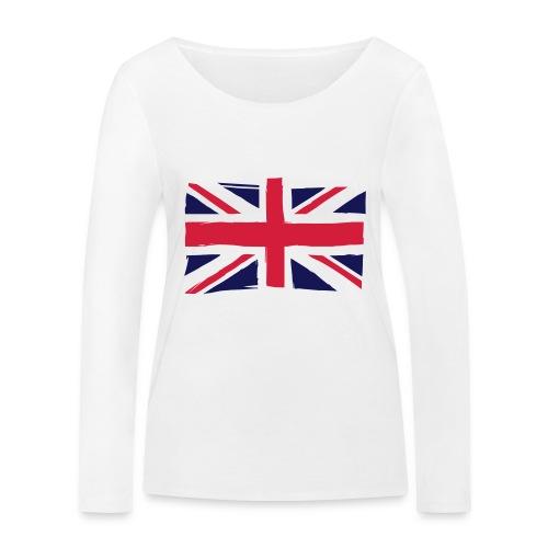 vlag engeland - Vrouwen bio shirt met lange mouwen van Stanley & Stella