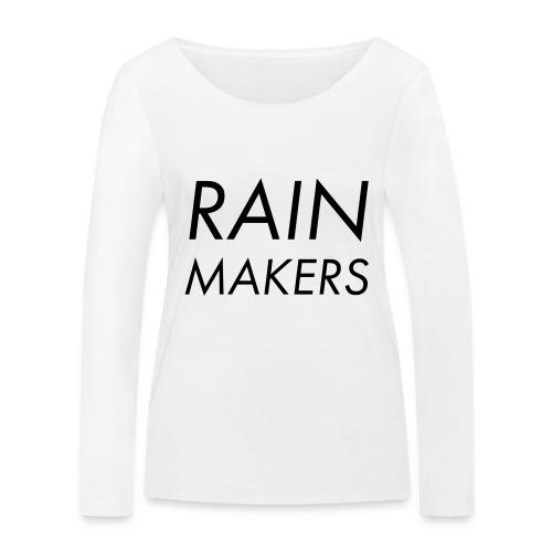 rainmakertext - Stanley & Stellan naisten pitkähihainen luomupaita