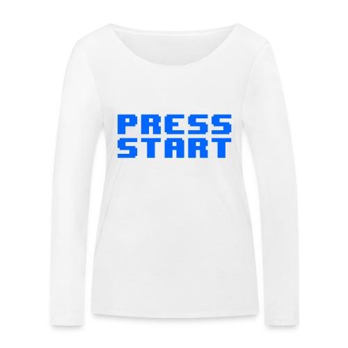 Press Start - Maglietta a manica lunga ecologica da donna di Stanley & Stella