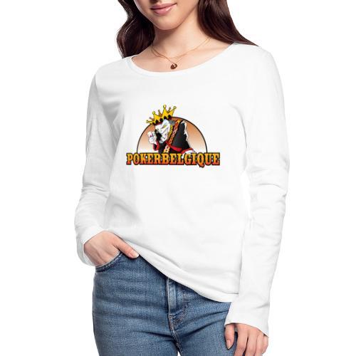 Logo Poker Belgique - T-shirt manches longues bio Stanley & Stella Femme