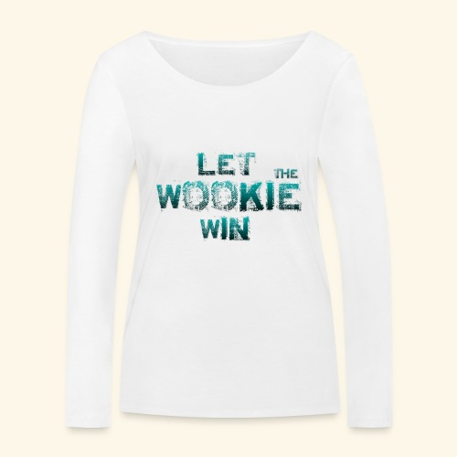 Let The Wookie Win, design 2. - Økologisk Stanley & Stella langærmet T-shirt til damer