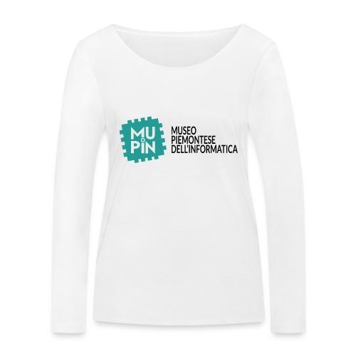 Logo Mupin con scritta - Maglietta a manica lunga ecologica da donna di Stanley & Stella