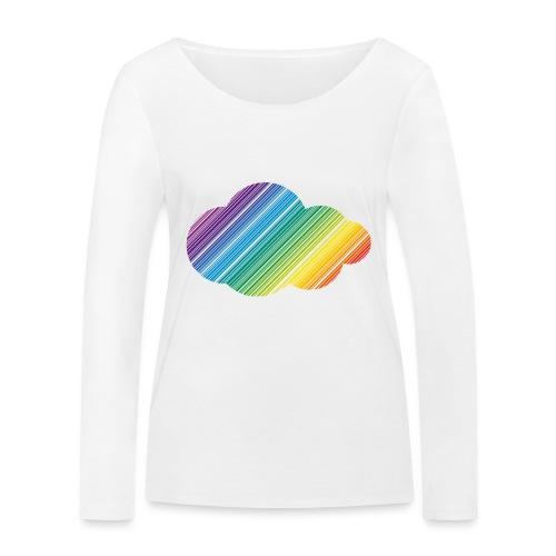 Regnbågsmoln - Ekologisk långärmad T-shirt dam från Stanley & Stella