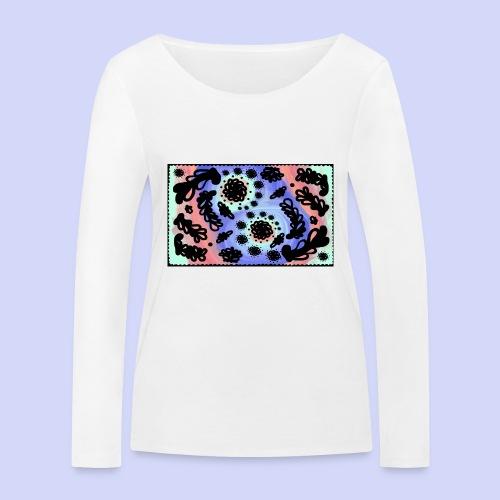 Pastel Rainbow Doodle - Female shirt - Økologisk Stanley & Stella langærmet T-shirt til damer