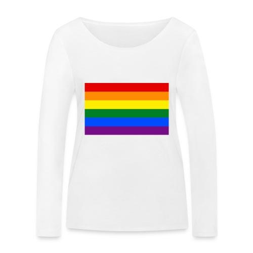 PRIDE BAGDE SMALL - Økologisk Stanley & Stella langærmet T-shirt til damer