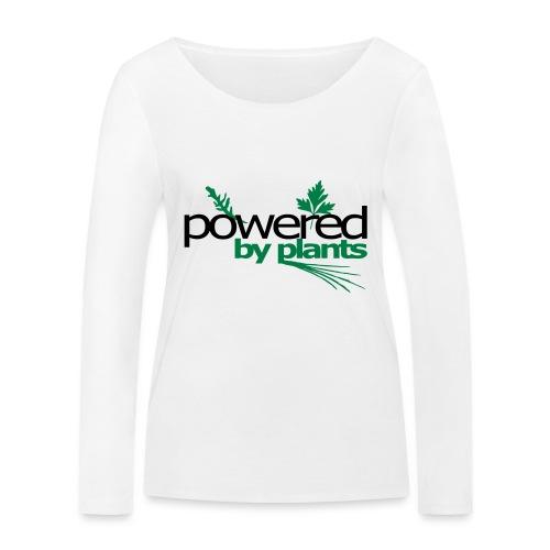 POWERED BY PLANTS - Frauen Bio-Langarmshirt von Stanley & Stella