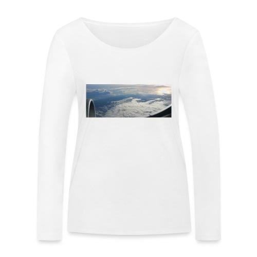 Flugzeug Himmel Wolken Australien - 2. Motiv - Frauen Bio-Langarmshirt von Stanley & Stella