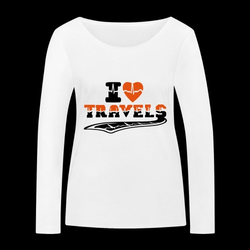 i love travels surprises 2 col - Women's Organic Longsleeve Shirt by Stanley & Stella