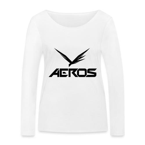 Aeros LOGO 2016 final - Vrouwen bio shirt met lange mouwen van Stanley & Stella
