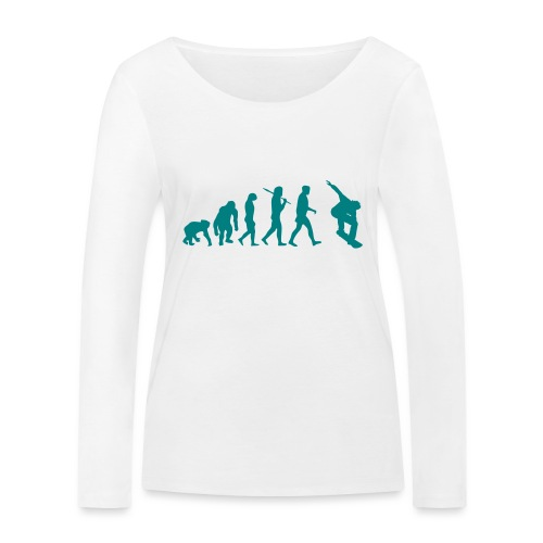 evolution_of_snowboarding - Vrouwen bio shirt met lange mouwen van Stanley & Stella