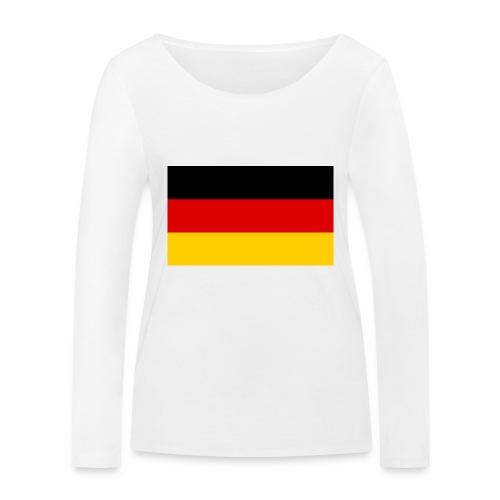 2000px Flag of Germany svg - Frauen Bio-Langarmshirt von Stanley & Stella