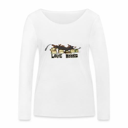 Love books - Ekologiczna koszulka damska z długim rękawem Stanley & Stella