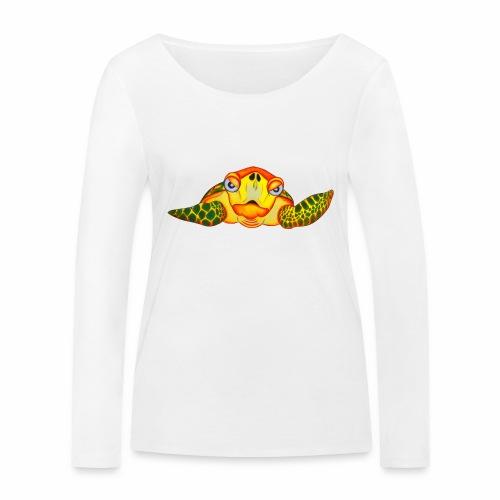 Boze Turtle Fluo - Vrouwen bio shirt met lange mouwen van Stanley & Stella