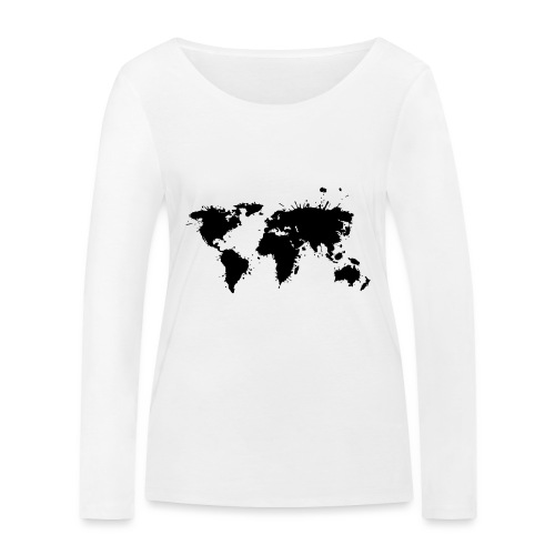 Weltkarte Splash - Frauen Bio-Langarmshirt von Stanley & Stella