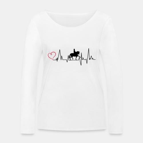 Heartbeat Dressurreiterin klassisch Herz - Frauen Bio-Langarmshirt von Stanley & Stella