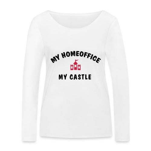 MY HOMEOFFICE MY CASTLE - Frauen Bio-Langarmshirt von Stanley & Stella