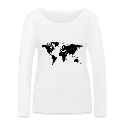 World Map - Frauen Bio-Langarmshirt von Stanley & Stella