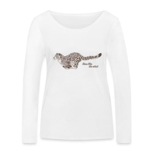 Snow Leopard: Run Like the Wind - Ekologiczna koszulka damska z długim rękawem Stanley & Stella
