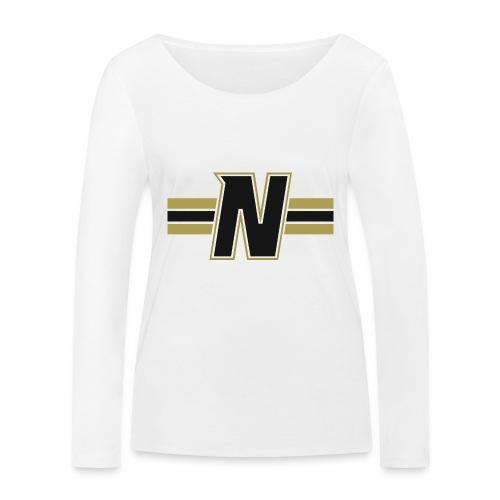 Nordic Steel Black N with stripes - Women's Organic Longsleeve Shirt by Stanley & Stella