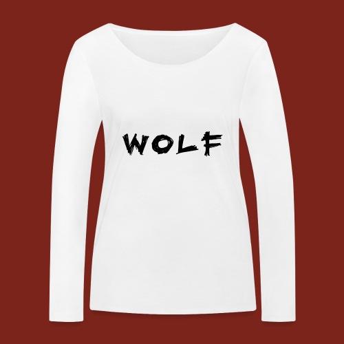 Wolf Font png - Vrouwen bio shirt met lange mouwen van Stanley & Stella