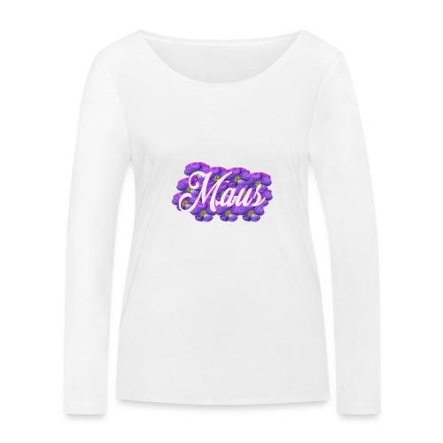 MAUS Vrouwen Opgerolde Mouwen - Vrouwen bio shirt met lange mouwen van Stanley & Stella