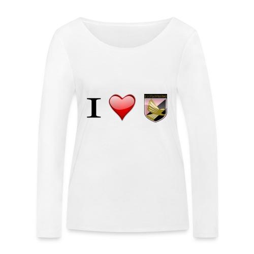 I Love Palermo - Maglietta a manica lunga ecologica da donna di Stanley & Stella
