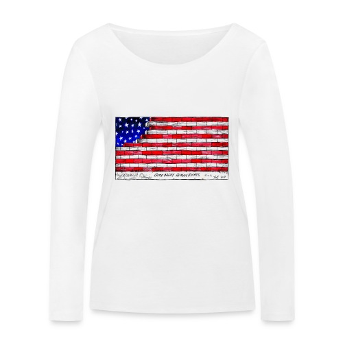 Good Night Human Rights - Women's Organic Longsleeve Shirt by Stanley & Stella