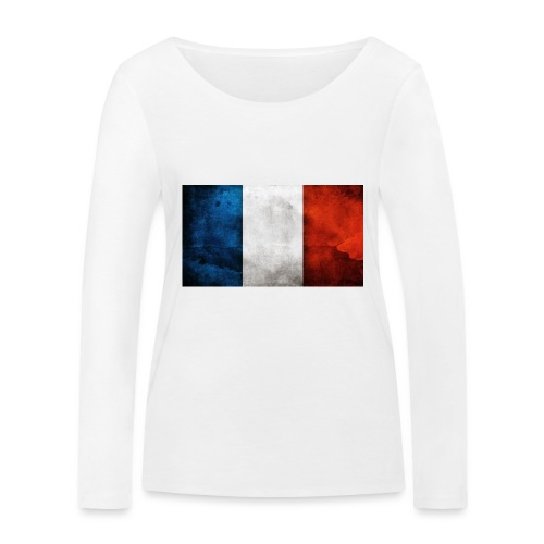 France Flag - Women's Organic Longsleeve Shirt by Stanley & Stella