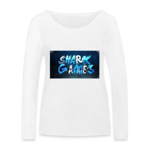 SharkGames - Maglietta a manica lunga ecologica da donna di Stanley & Stella