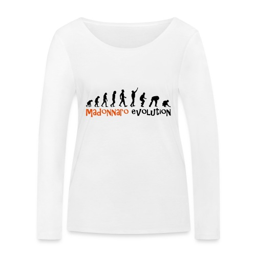 madonnaro evolution original - Women's Organic Longsleeve Shirt by Stanley & Stella