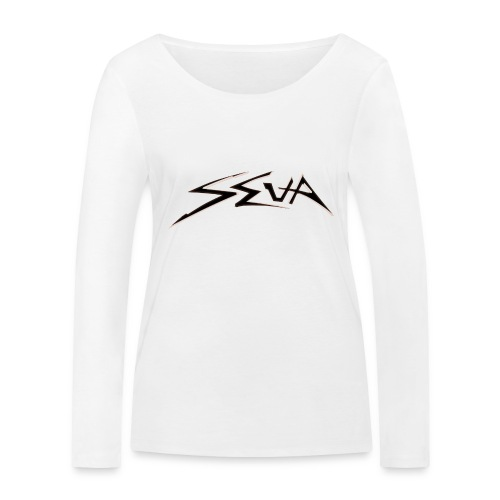 SEUA logo Speedy black - Ekologisk långärmad T-shirt dam från Stanley & Stella