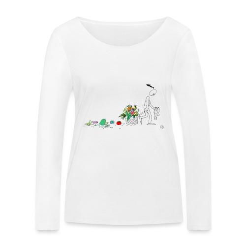 frukt og grønt handleveske - Økologisk langermet T-skjorte for kvinner fra Stanley & Stella