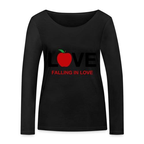 Falling in Love - Black - Women's Organic Longsleeve Shirt by Stanley & Stella