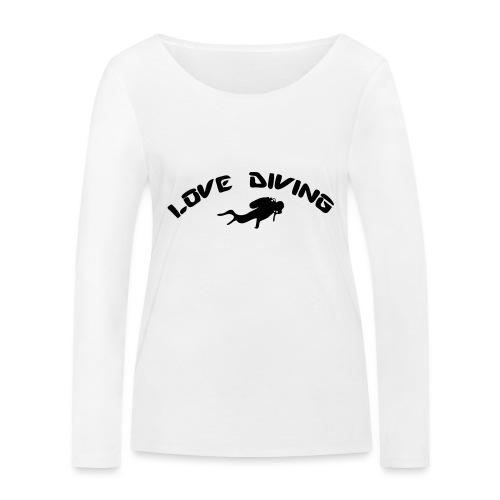 love diving - Frauen Bio-Langarmshirt von Stanley & Stella