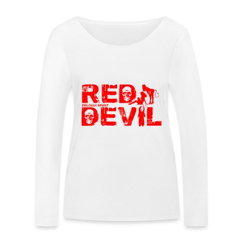BELGIAN-RED-DEVIL - T-shirt manches longues bio Stanley & Stella Femme