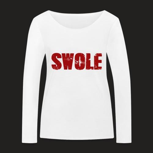 SWOLE RED - Women's Organic Longsleeve Shirt by Stanley & Stella