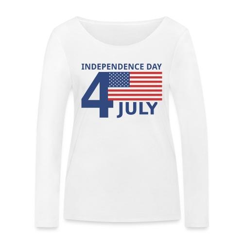 4th of July. 4 luglio - Maglietta a manica lunga ecologica da donna di Stanley & Stella