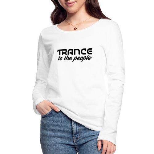 Trance to the People Sort Logo - Økologisk Stanley & Stella langærmet T-shirt til damer