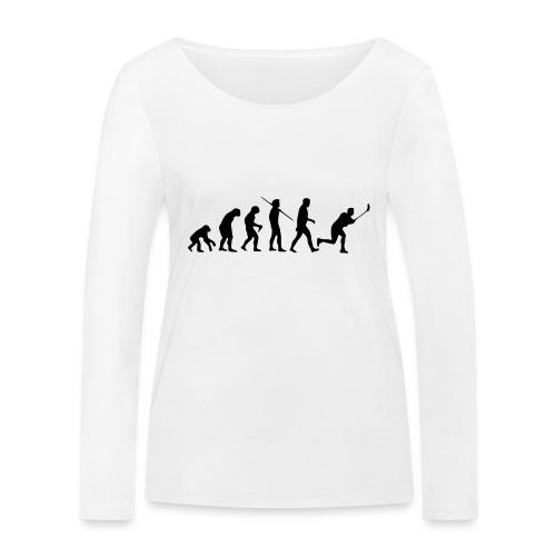 Floorball Evolution Black - Frauen Bio-Langarmshirt von Stanley & Stella