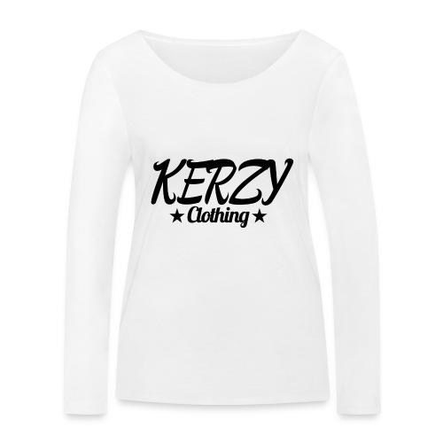 Official KerzyClothing T-Shirt Black Edition - Women's Organic Longsleeve Shirt by Stanley & Stella
