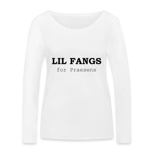 Lil Fangs for Praesens - Black Text - Women's Organic Longsleeve Shirt by Stanley & Stella