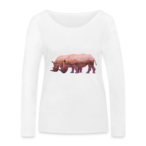 Nashorn Alpen - Frauen Bio-Langarmshirt von Stanley & Stella