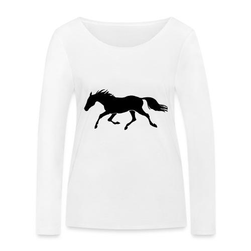 Cavallo - Maglietta a manica lunga ecologica da donna di Stanley & Stella