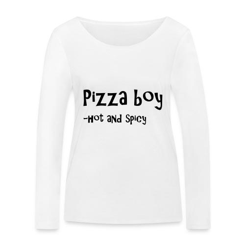 Pizza boy - Økologisk langermet T-skjorte for kvinner fra Stanley & Stella
