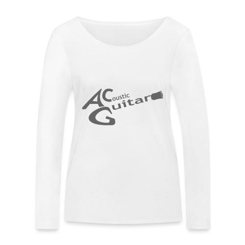 Acoustic Guitar Logo - Gray - Women's Organic Longsleeve Shirt by Stanley & Stella