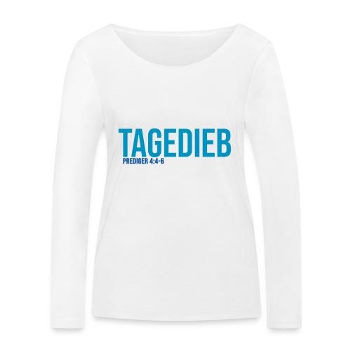 TAGEDIEB - Print in blau - Frauen Bio-Langarmshirt von Stanley & Stella