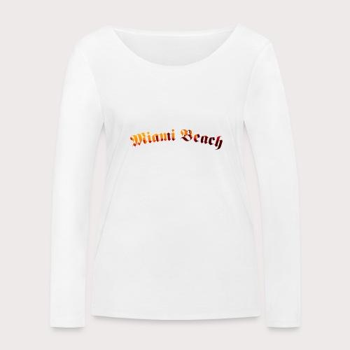 Miami Beach - Frauen Bio-Langarmshirt von Stanley & Stella